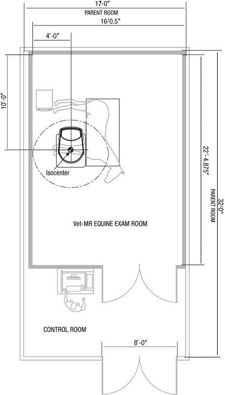 Vet-MR Grande XL typical exam room suite layout